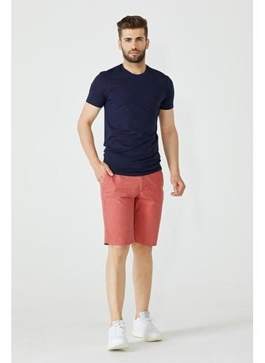 Sementa Erkek Sıfır Yaka Basic Tshirt - Lacivert Lacivert